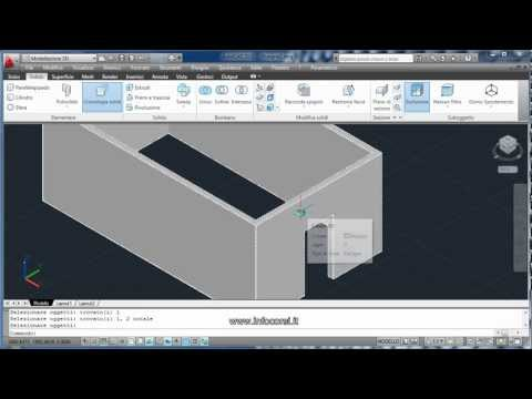 Corso Autocad 3D - Barletta | Lezione d'esempio Autocad 3D | Ecdl Cad 3D