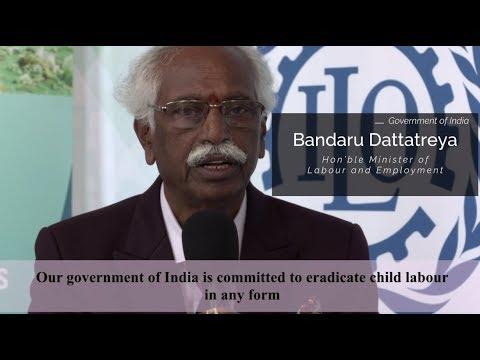 Bandaru Dattatreya, Minister of Labour & Employment, speaks to ILO [English version]