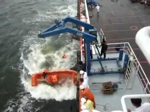 FAIL : How not to launch an FRC ( Fast Rescue Craft )