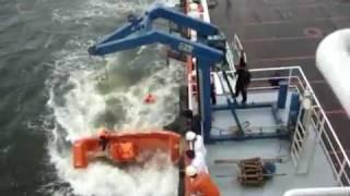 Hoe je vanaf een vrachtschip een rib niet te water moet laten