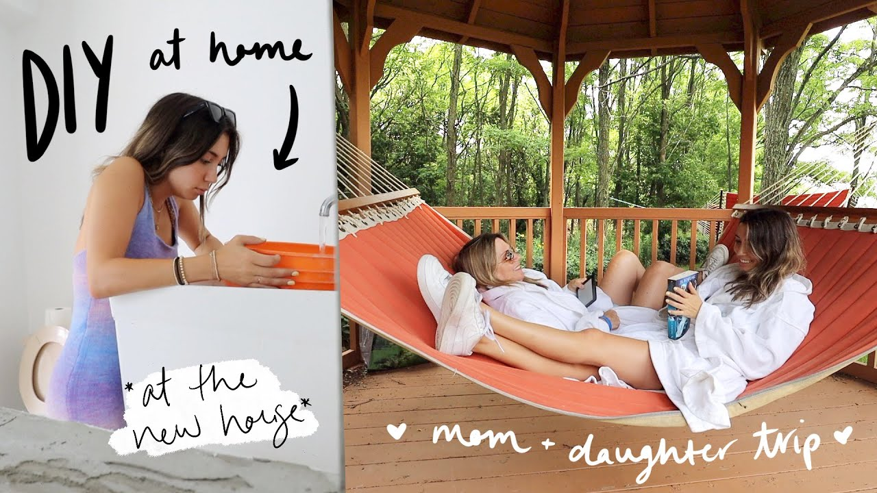 DIY project at the house + spa trip w/mom before I leave for LA!!