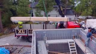 Строительство дома из несьемной опалубки AAB на УШП (Стокгольм июль 2016)(, 2016-08-03T11:06:21.000Z)