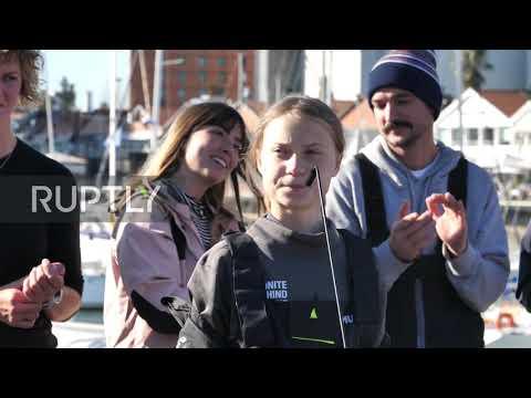 Portugal: Greta Thunberg docks in Lisbon after Atlantic voyage