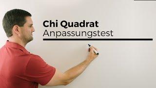 Chi Quadrat Anpassungstest, Stochastik, Statistik, Testen, Mathe by Daniel Jung