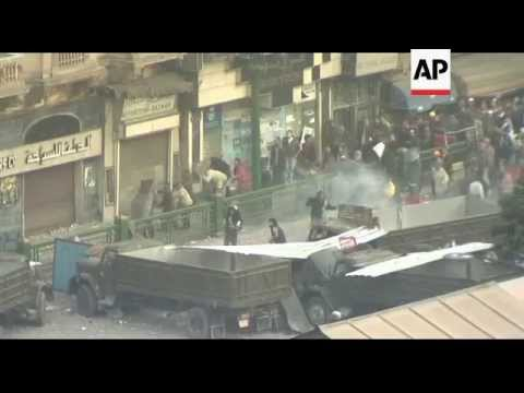 Clashes in Tahrir Square area of Cairo, Egypt