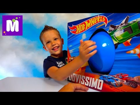 ХотВилс Мега большое яйцо много игрушек и трек Hot Wheels Zombie Strike