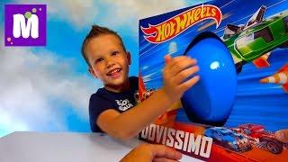 ХотВилс Мега большое яйцо много игрушек и трек Hot Wheels Zombie Strike много машинок Хот Вилс
