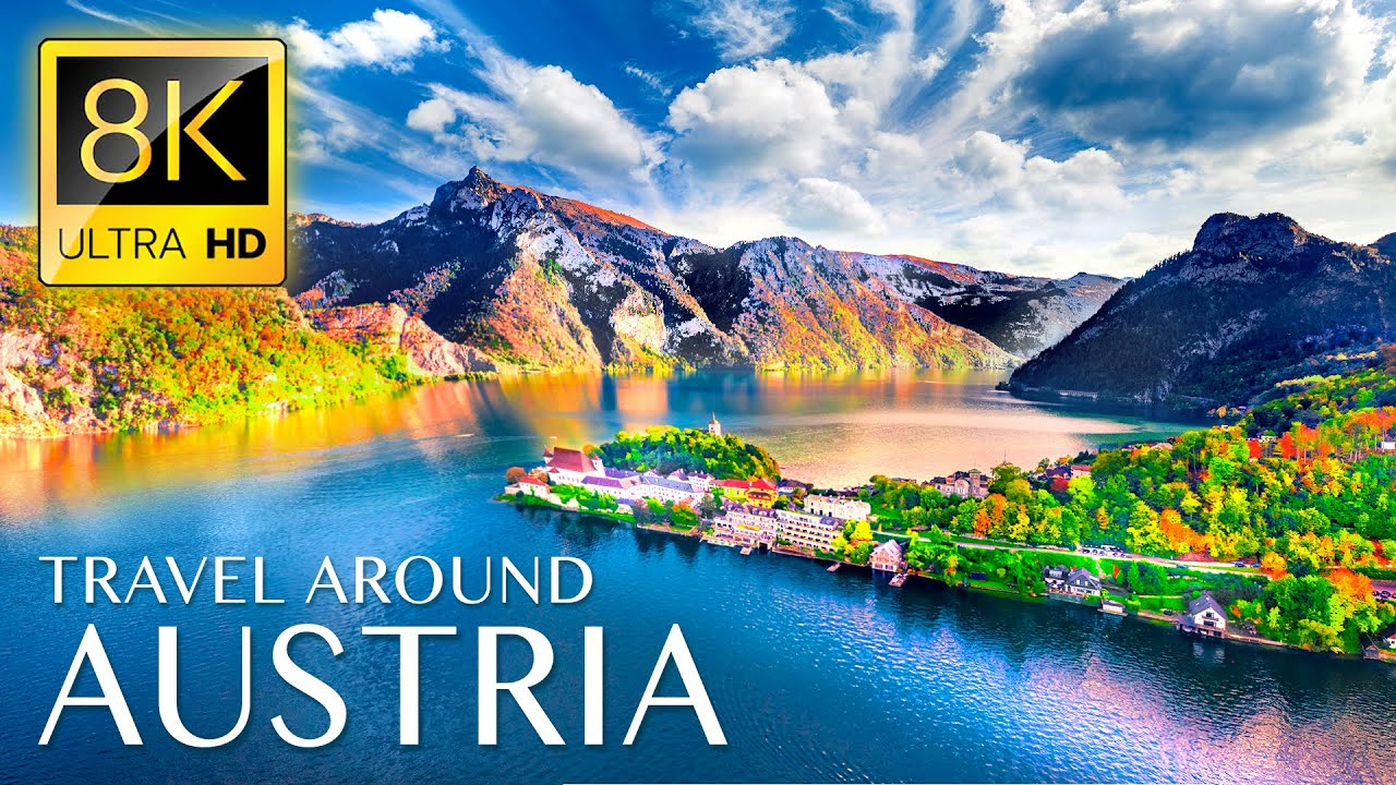 Unique Trip to AUSTRIA in 8K ULTRA HD - Travel to Best Places in Austria with Relaxing Music 8K TV