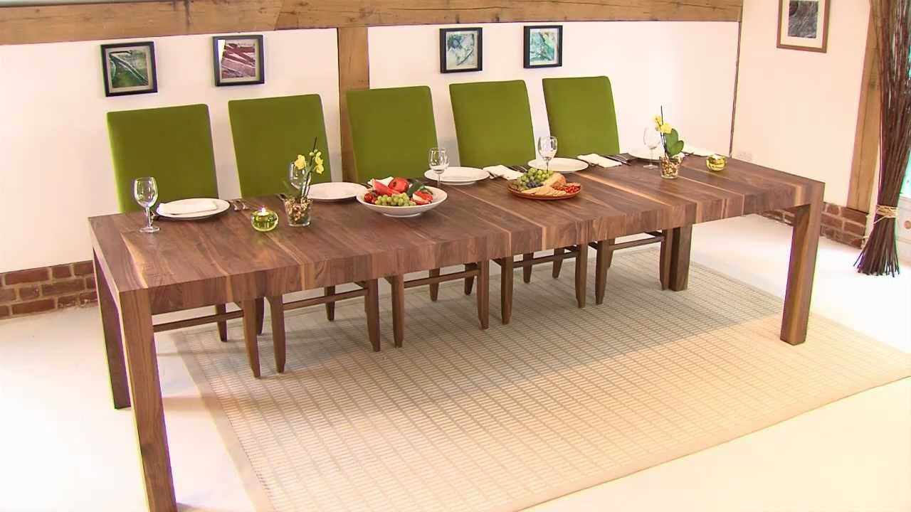 Rectangular Extending Table   YouTube