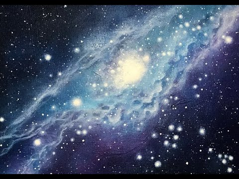 """Acrylic Galaxy Painting Tutorial by """"Lanchen Designs"""""""