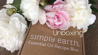Simply Earth Essential Oil October Box Unboxing