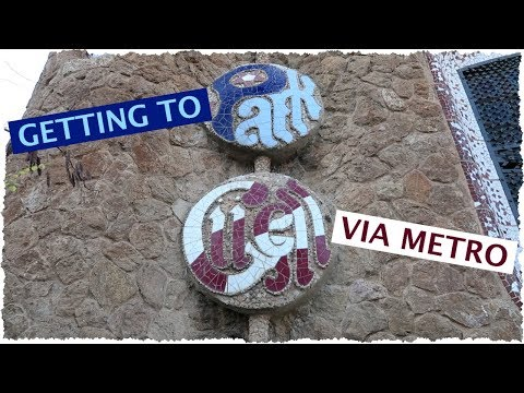 Barcelona: Getting to Park Güell via Metro