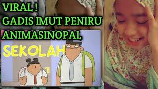VIRAL!!! - GADIS CILIK IMUT MENIRU SUARA CUTE GIRL - ANIMA SINOPAL - LAGU SEMANGAT SEKOLAH