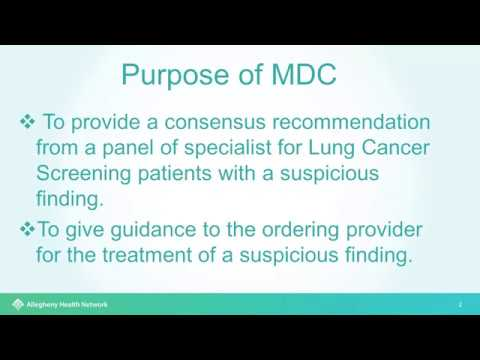 The Importance of a Multi Disciplinary Conference in a Multi Hospital Lung Screening Program