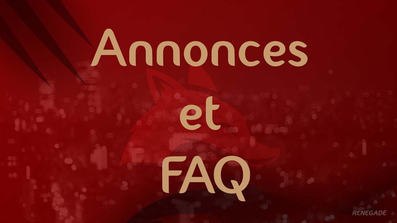 Annonces du projet Studio Renegade et FAQ