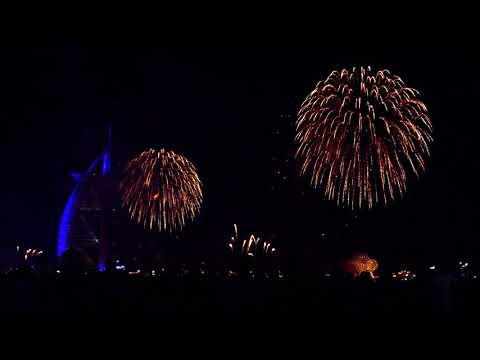 Dubai | Amazing 2020 fireworks at Burj Al Arab | #Newyear #2020