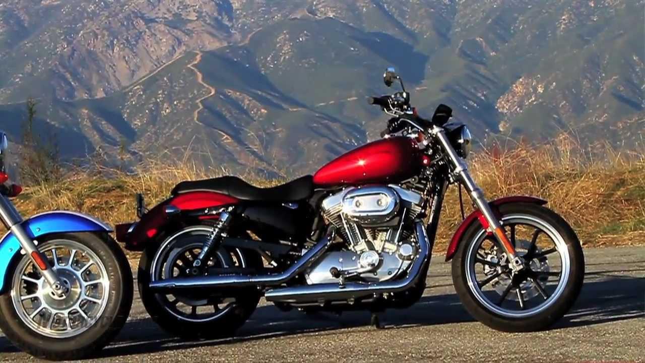 2012 Harley Davidson Sportster Superlow Vs Triumph America Youtube