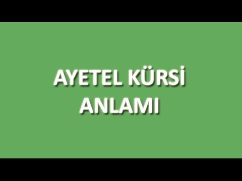 Ayetel Kürsi Meali Oku Dinle İzle - www.oku.gen.tr