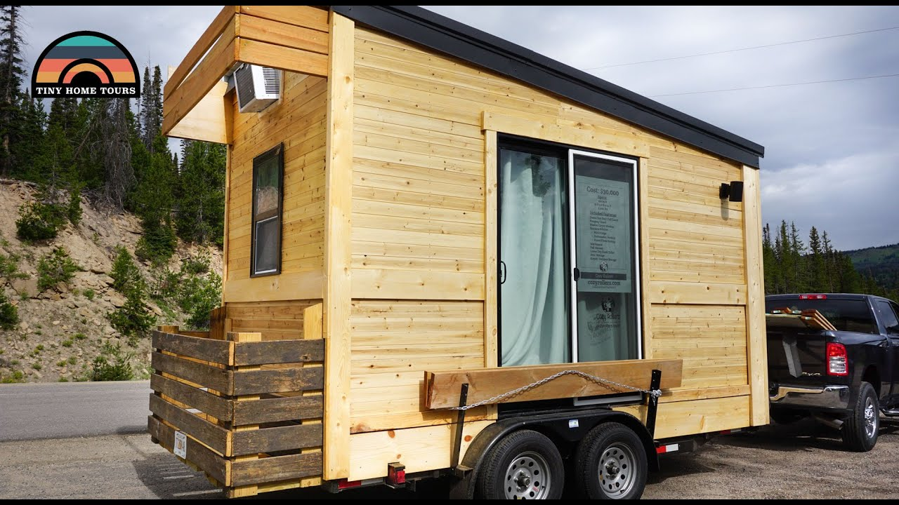 Living Traveling In A 120 Sq Ft Micro Tiny House Couples Diy Dream Home Youtube