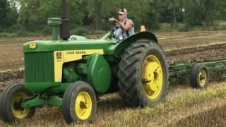 John Deere 830 Tractors Plowing a Field in Charlotte, Michigan