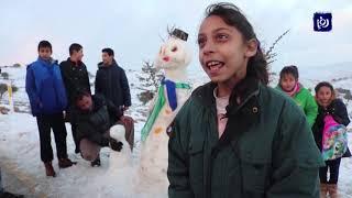 شاهد تراكم الثلوج في الهيشة - أخبار الدار