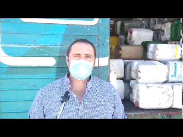 Ing Diego Vilela DV Agro. Carga de residuos fitosanitarios