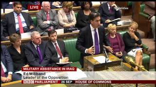 Ed Miliband Iraq