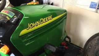 2003 John Deere GX345 cold start spring 2016