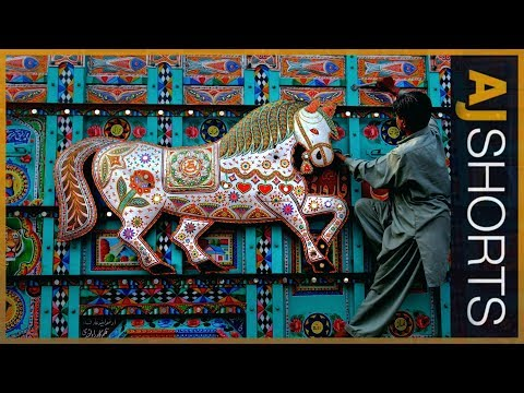 🇵🇰 How are Pakistan's buses painted into beautiful art? | AJ Shorts