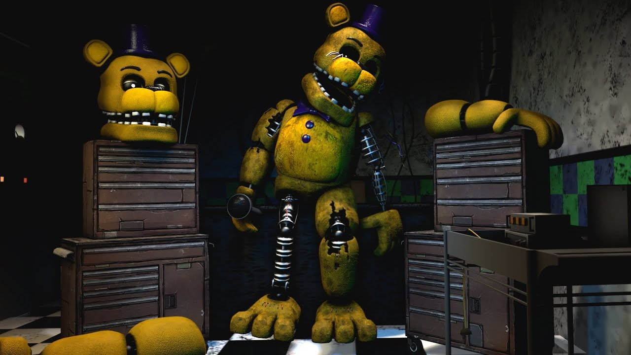 [FNAF Help Wanted] Repairing Golden Freddy/Fredbear Game-play Animation -  Five Nights at Freddy's VR