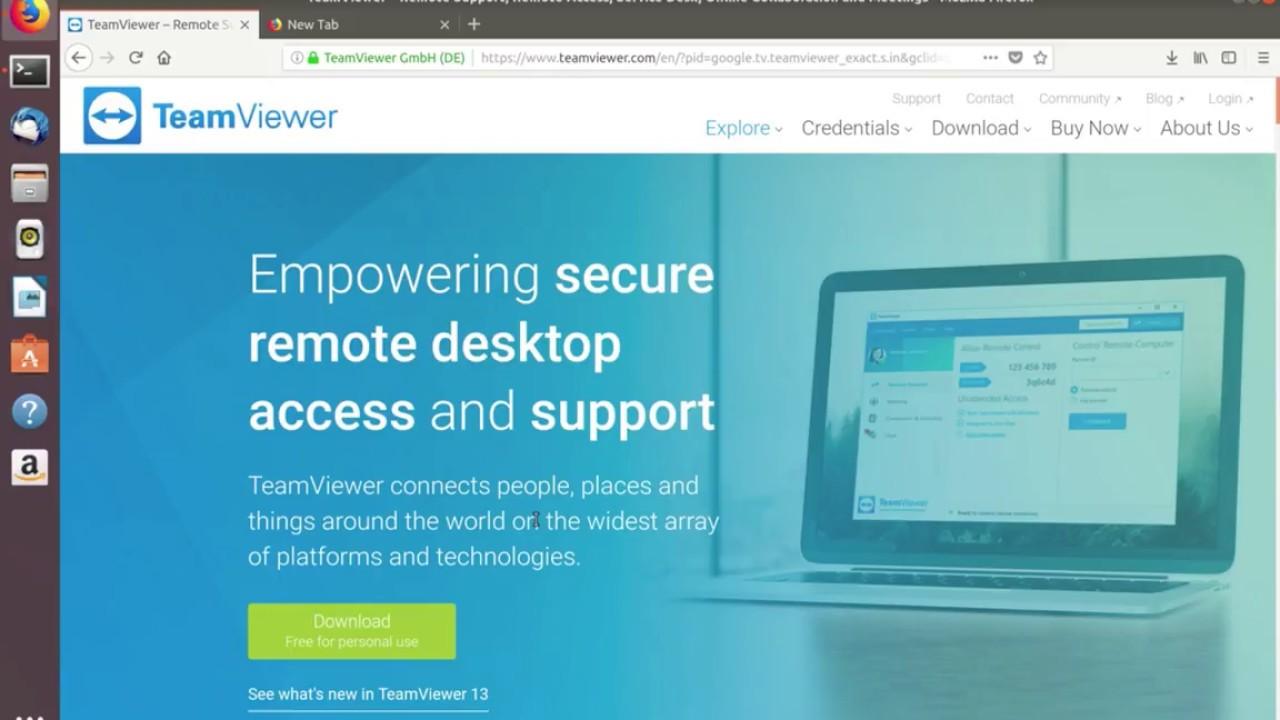 teamviewer ubuntu 18 04