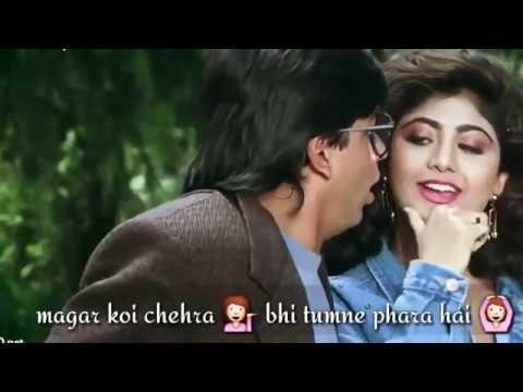 Kitaben Bahut Si Padhi Hongi Tumne Song with Lyrics Baazigar  Best Love Video  Whatsapp Status