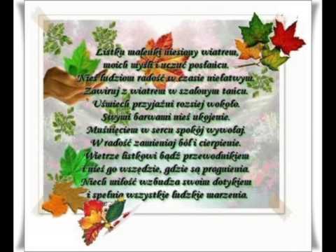 Jesienny Liść Wszystko Mi Opowiedział