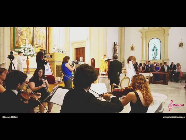 Entrada de la novia a la iglesia Oboe de Gabriel Cuarteto de cuerda y Oboe Bodas Almeria