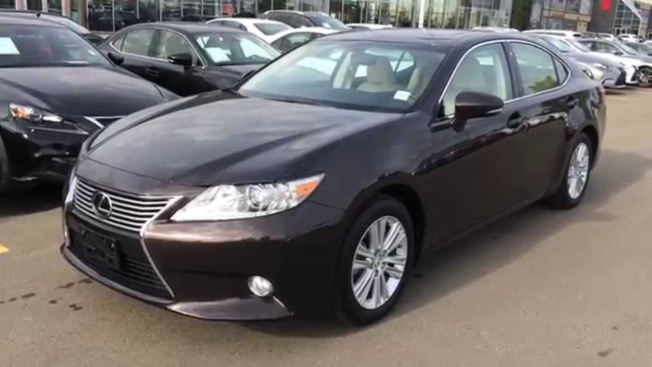 Executive Demo 2014 Lexus ES 350 Red Fire Agate Pearl On
