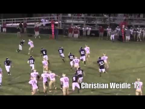 Christian Weidle Has Serious Game! Next Tim Dwight??? 4.3 40 speed!