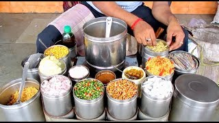 Indian Street Food - Masala Muri ( Jhal Muri ) Chanachur Chaat, Poha Mixture at Bandel
