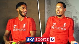 Virgil van Dijk vs Joe Gomez | 'Who Am I?' Liverpool Teammates Quiz
