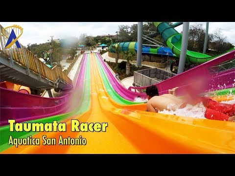 Taumata Racer slide POV at Aquatica San Antonio