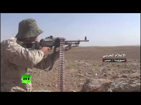 Firefight: Syrian army battles ISIS militants in Homs countryside