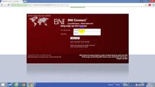 Hướng dẫn đăng nhập   BNI Connect Global   BNI Yes Chapter