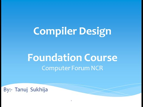 Compiler Design Video Lectures in Hindi  Unit 1 Video 1- Compiler Introduction