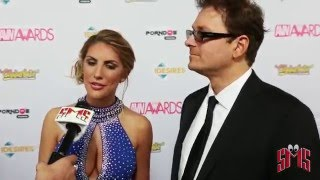August Ames Red Carpet Appearance tells how She Will Celebrate if she wins  AVN Award