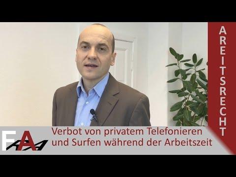 Verbot von privatem Telefonieren und Surfen während der Arbeitszeit | Arbeitsrecht
