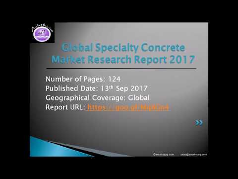 Specialty Concrete Market, by Demand Category, Competition Forecast and Opportunities