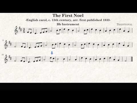 The First Noel, Christmas Song - Trumpet and Tenor Saxophone Play along sheet music