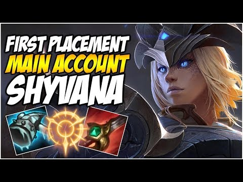 FIRST PLACEMENT ON MAIN ACCOUNT, SHYVANA JUNGLE - Climb to Master | League of Legends