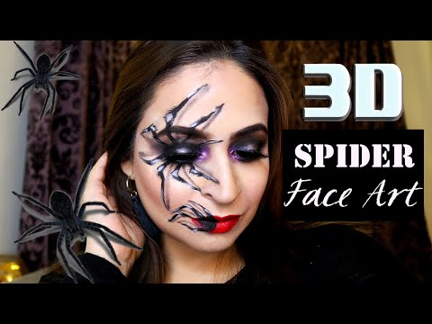 How To Do A Creepy 3D Spider Look Using Basic Makeup