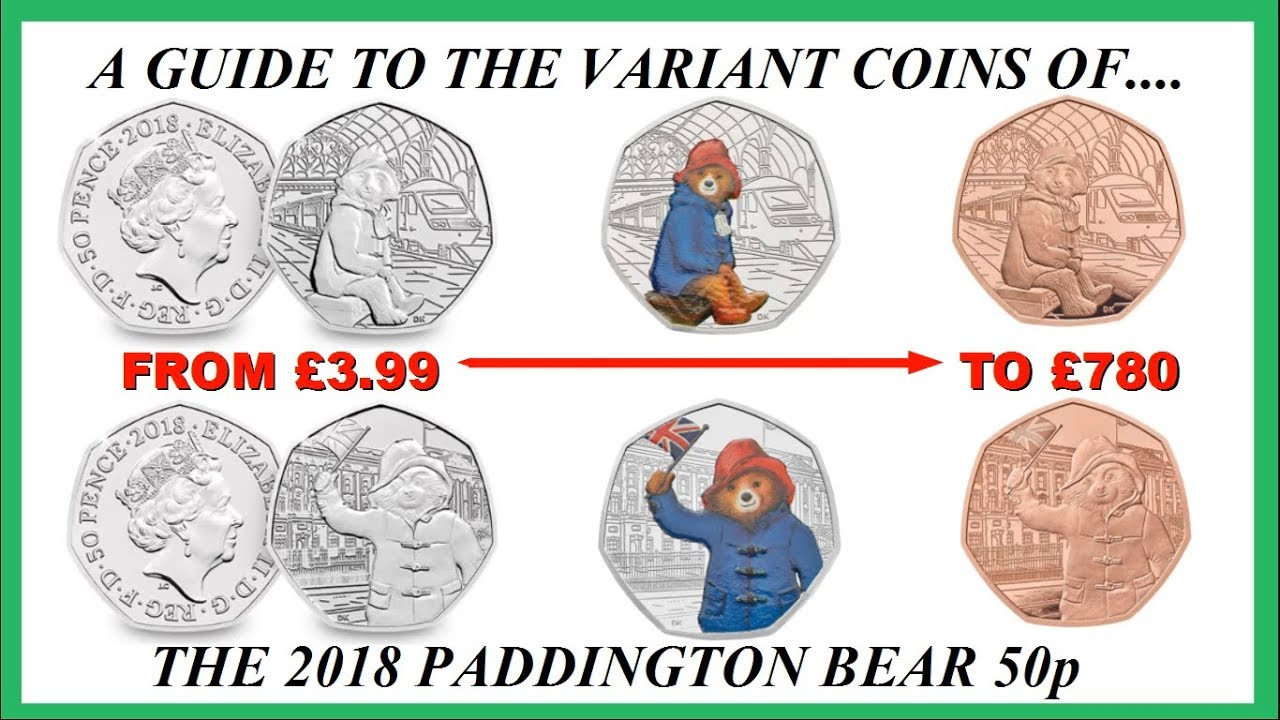 paddington bear 50p coins # 42