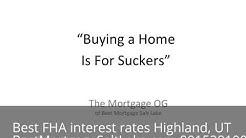 FHA Purchase Rates Highland, UT